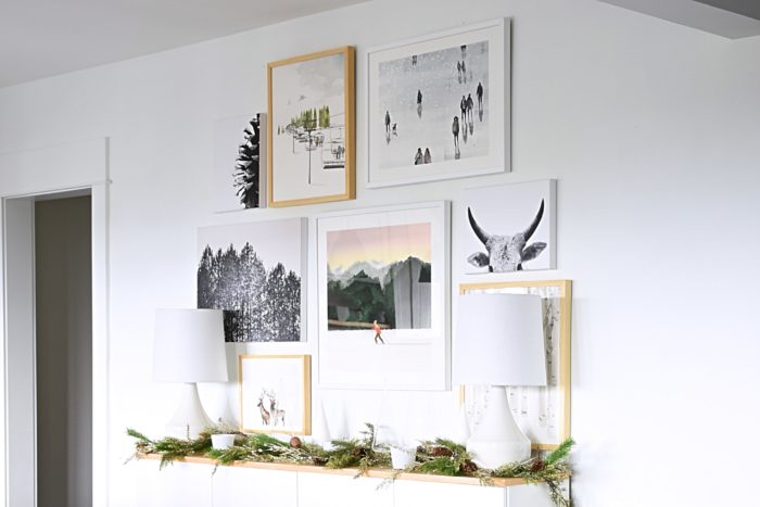 I Havent Made Any Real Changes In Our Dining Room The Past Couple Of Years But Today Im Excited To Share With You Winter Art Gallery Wall That