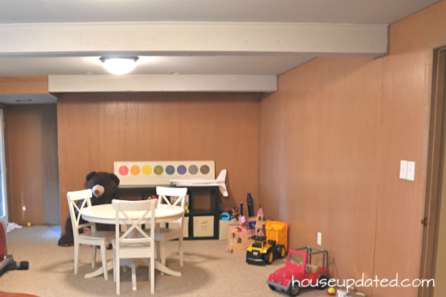 Basement Refresh Painting Wall To Wall Paneling Part 1 House Updated