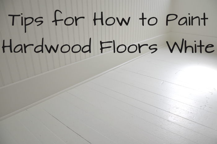 Diy How To Paint Wood Floors White