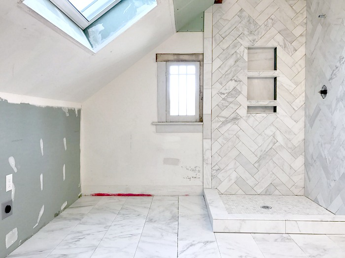 One Room Challenge Master Bathroom Laundry All The Tile